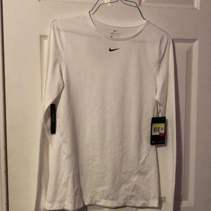 Nike Dri-fit long sleeve in white (never worn)